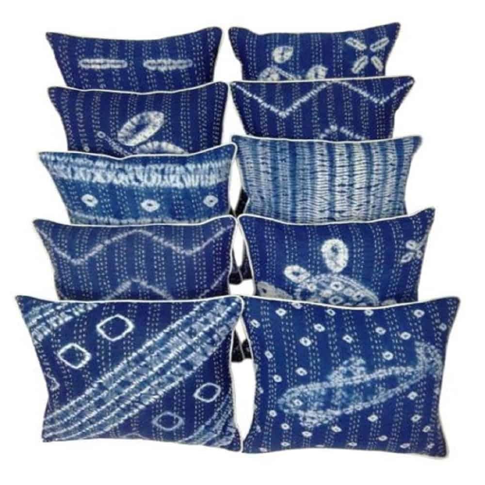 handmade shibori design indigo kantha cc
